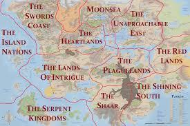 Map Of Faerun Forgotten No More The Regions U0026 Countries Of Faerun