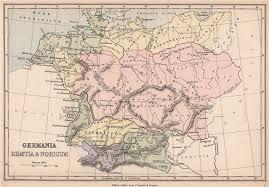 germania map ancient germany germania rhaetia noricum provinces 1878