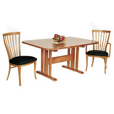 natural vermont cherry trestle table custom solid wood dining