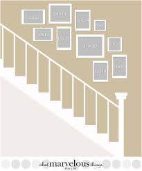 Stair Plan Staircase Wall Display Plan How Your Exact Arrangement Will Look