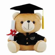 graduation bears graduation teddy with cap and diploma measures 16 22 28cm