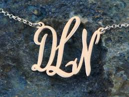 sterling silver monogram necklace 1 925 sterling silver monogram necklace monogram jewelry we
