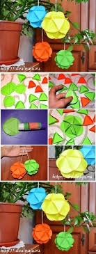 how to make paper craft ornaments step by step diy tutorial