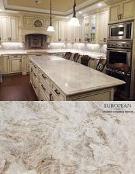 Granite Countertop Standard Depth Kitchen Cabinets Patterned by An Espresso Glaze Adds Character To The White Perimeter Cabinets