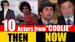 biography of movie coolie 10 bollywood actors from coolie 1983 then and now youtube