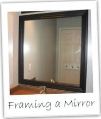framed mirror blue cricket design