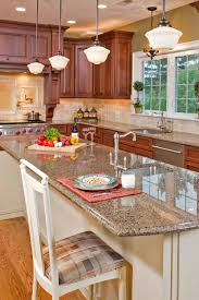 what backsplash goes with light wood cabinets 50 popular brown granite kitchen countertops design ideas