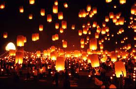 Festival Of Lights Thailand Thailand Chiang Mai Maejo University Yi Peng Festival Floating