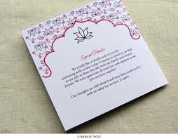 thank yous on wedding programs indian wedding program lotus floral hindu wedding imbue you