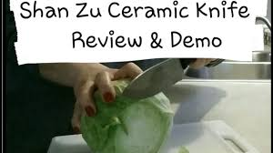 shan zu ceramic knife demo u0026 review youtube