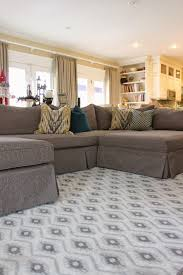 Custom Slipcovers By Shelley Custom Slipcovers By Shelley Grey Tweed Sectional