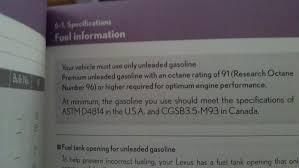 lexus is 200t premium gas premium gas vs regular observation clublexus lexus forum