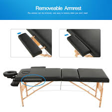 fold up massage table for sale 84 l 3 fold body massage bed therapy spa tattoo beauty table