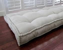custom cushions blue ticking stripe french mattress