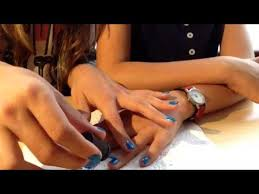 how to put pearl beads on your nails youtube