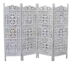 carved wood room divider india folding screen room divider vierflueglig light gebeiztes