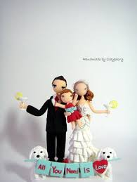 kissing couple customized wedding cake topper with by clayphory