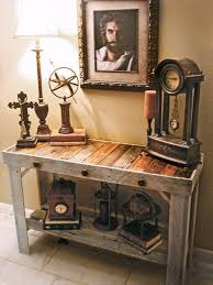 diy entryway table plans handmade trendy sofa entry table made from reclaimed pallets
