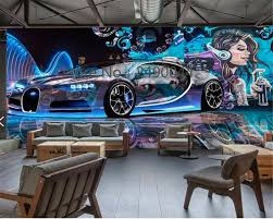 beibehang custom 3d wallpaper street graffiti sports car beibehang custom 3d wallpaper street graffiti sports car decoration tv 3d living room background wall wall paper mural in wallpapers from home improvement