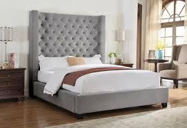 tall headboard beds tufted tall headboard bed