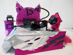 Monster High Doll House Furniture How To Make A Catty Noir Doll Bed Tutorial Monster High Youtube