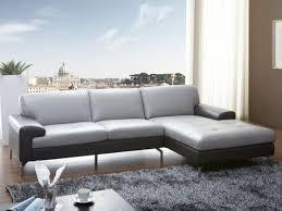 canap cuir gris clair canapé d angle en cuir bicolore gris clair foncé angle
