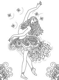 Beautiful Ballerina Girl Coloring Pages Coloring Sky Ballerina Printable Coloring Pages