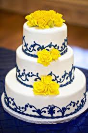 wedding cake royal blue yellow wedding blue and yellow wedding cake 2040712 weddbook