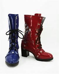 discount harley boots aliexpress com buy batman arkham knight harley quinn cosplay