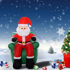 Blow Up Christmas Yard Decorations by Inflatables Foot Christmas Inflatable Santa Claus Driving Tractor
