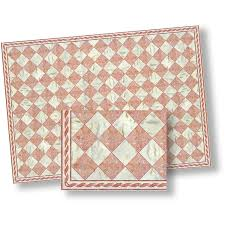 pink white faux marble floor tile pack