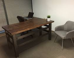 office furniture l shaped desk the brooklyn executive l shape desk modern industrial office