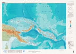 Topographic Map Of Usa by Large Detailed Topographical Map Of Papua New Guinea Papua New