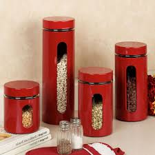 Red Kitchen Canister Tuscan Kitchen Canister Sets Affordable Amazoncom European Style