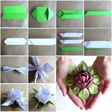Lotus Blossom Origami - origami lotus flower tutorial