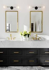 Cabinet For Bathroom Navy Vanity Gold Hardware Marble Vanity Gold Sconces