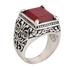 new mens rings images Fashion 2016 new ruby jewelry islam ring for men silver plated jpg