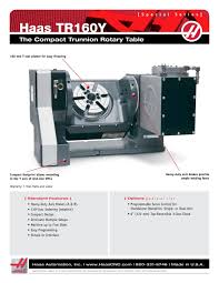 tr160y haas automation pdf catalogue technical documentation