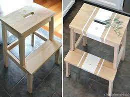 ikea step ikea bekvam stool spruced up step stool via dormer chic ikea bekvam
