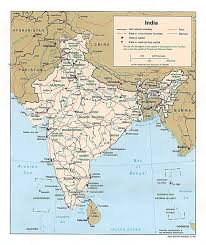 World Map Of India by Political Map Of India 1996 Maps Of India