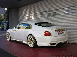 roll royce wraith on rims office k showers rolls royce wraith in gold