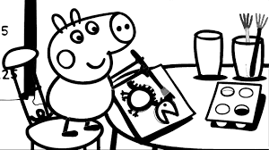 peppa pig painting coloring book pages fun coloring videos youtube