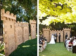 Castle Backdrop Wedding Ceremony Ideas Handmade Backdrops