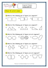 grade 3 maths worksheets 14 5 geometry congruent shapes lets