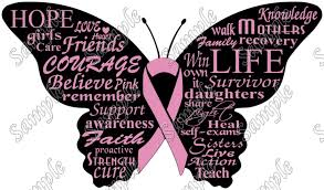 breast cancer awareness butterfly t shirt iron on transfer decal 21
