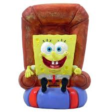 spongebob squarepants in a chair aquarium ornament aquar