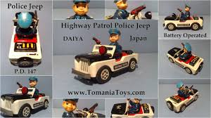police jeep daiya p d 147 highway patrol police jeep car tinplate battery