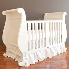 Sleigh Bed Cribs Bratt Decor Chelsea Sleigh Crib In White