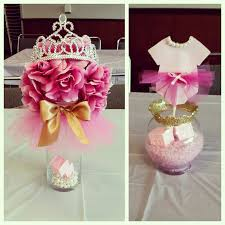 tutu centerpieces for baby shower tutus tiaras baby shower centerpieces pinkandgold my diy