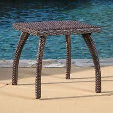 rattan side table outdoor wicker side table ebay